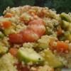 Cous-cous med saffran grönsaker och räkor