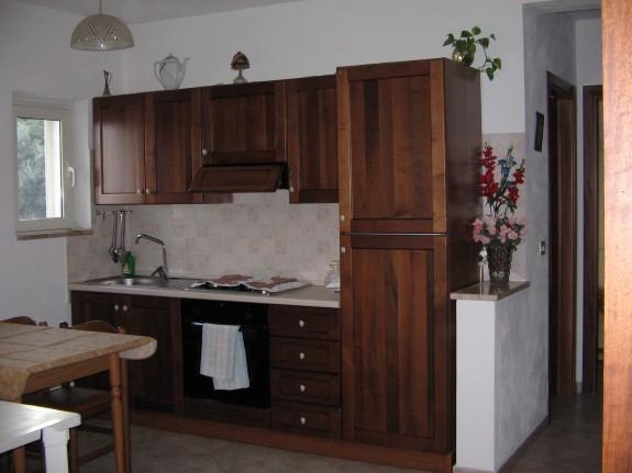 Köket i en av lägenheterna