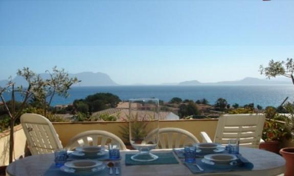 Lägenhet med havsutsikt från lägenheten Panorama-Sardegna